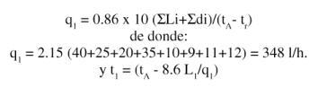 fórmula caudal total