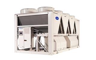 Bomba de calor aire-agua 30RQP de Carrier para grandes instalaciones de frío y refrigeración industrial