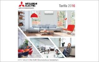 Nueva Tarifa Mitsubishi Electric 2016 de aire acondicionado y calefacción