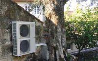 Bomba de calor aerotérmica de Thermor para reducir el consumo de energía en una casa rural