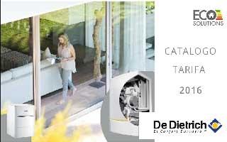 Nuevo catálogo tarifa de De Dietrich con soluciones de alta eficiencia