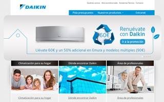 Actualización de diseño y contenidos en la web de Daikin