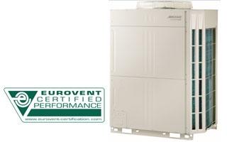 El sistema VRF de aire acondicionado y calefacción Fujitsu con certificación Eurovent