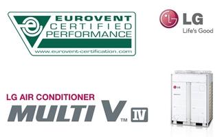 La gama Multi V de aire acondicionado LG, certificada por EUROVENT como la más eficiente del mercado