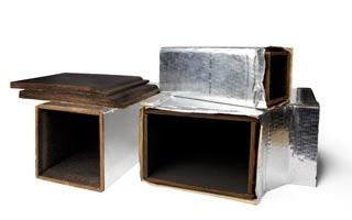 Conducto para aire acondicionado y ventilación con Lana Mineral Natural Climacoustic de Knauf Insulation
