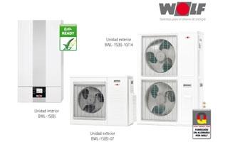 Nueva bomba de calor reversible aire-agua BWL-1S(B) de Wolf para calefacción y aire acondicionado