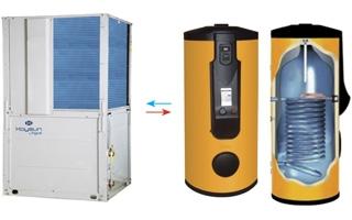 Bombas de calor de gran capacidad para agua caliente sanitaria AGUA de Kaysun