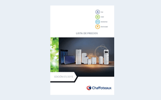 Nueva tarifa de precios de Chaffoteaux adaptada a las directivas europeas ErP