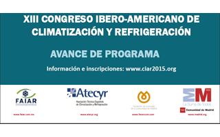 CIAR 2015, Congreso Ibero Americano de Climatización y Refrigeración, presenta su programa definitivo