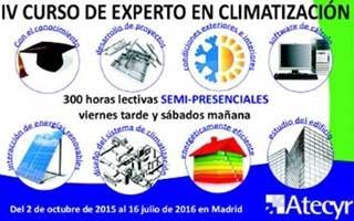 Últimos días para la inscripción al IV Curso de Experto en Climatización de Atecyr