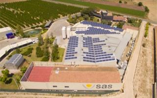 Instalación solar fotovoltaica para autoconsumo energético de 85 kWp realizada por Sofos
