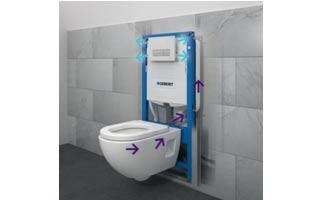 Elimina olores en el cuarto de baño con el extractor de olores Geberit DuoFresh