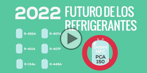 Instalación de enfriadoras para un sistema de refrigeración con gases refrigerantes