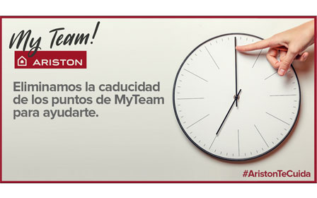 Ariston My Team elimina la caducidad de puntos