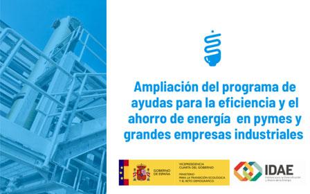 Ampliación del programa de ayudas para la eficiencia energética