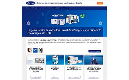 Carrier lanza su nueva web en España, un espacio diseñado para mejorar la experiencia del cliente
