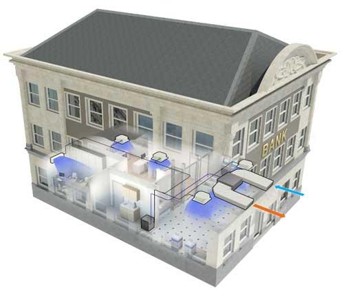 Aire acondicionado invisible con el nuevo vrv indoor de daikin for Aire acondicionado aparato exterior