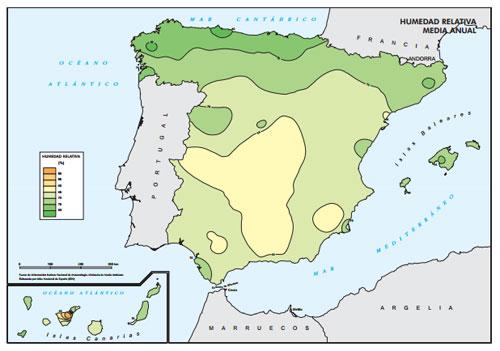 Enfriador evaporativo vs aire acondicionado - Humedad relativa espana ...