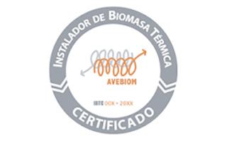 Logo Certificado Instalador de Biomasa Térmica de Avebiom