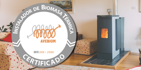 Sello de instalador certificado de biomasa térmica de Avebiom