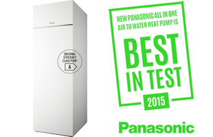 "Bomba de calor All in One de Panasonic con el sello ""Best in Test"""