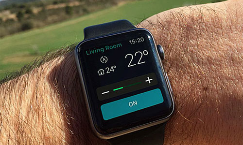 Regulación de la climatización mediante aplicación para Apple Watch