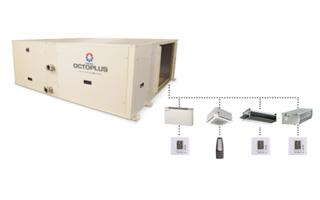 Sistema de climatización centralizada para locales comerciales Octoplus de Hitecsa