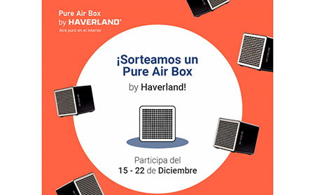 Haverland sortea un dispositivo Pure Air Box a través de sus RRSS