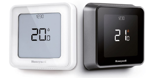 Termostato inteligente Honeywell Home T6 en blanco y negro
