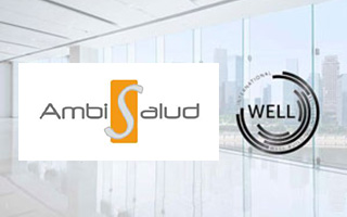 logo ambisalud con acreditación well