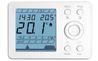 Cronotermostato digital programable de Genebre con pantalla de led azul