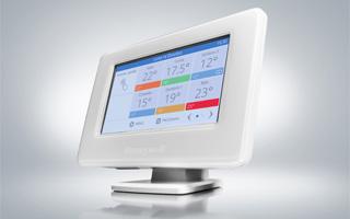Termostato para regulación de la calefacción con WiFi Evohome de Honeywell