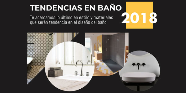 Tendencias en baño 2018