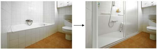 Cambio de ba era por ducha con cs presto - Quitar banera y poner plato de ducha ...