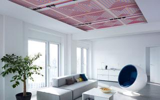 Instalación de techo radiante