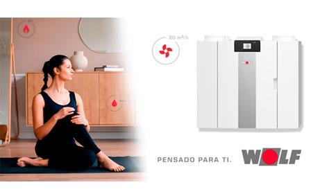 Ventilación mecánica controlada con recuperador de calor WOLF CWL-2