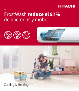 Hitachi banner superior derecho aire acondicionado julio 2020