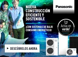 Panasonic Europa banner derecho construcción Sostenible campaña especial en cesion