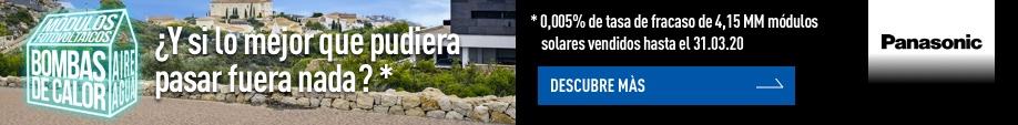 Panasonic paneles solares OLA1 banner cierre energias renovables  octubre 2020