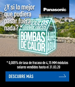Panasonic Paneles Solares OLA1 banner superior derecho energias renovables octubre 2020