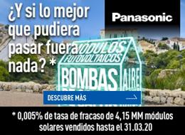 Panasonic paneles solares OLA1 banner derecho construcción sostenible octubre 2020