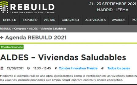ALDES presentará su oferta de soluciones de ventilación y purificación del aire en REBUILD 2021