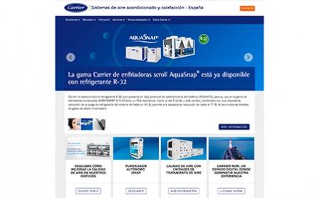 Nueva web de Carrier, un espacio diseñado para mejorar la experiencia del cliente