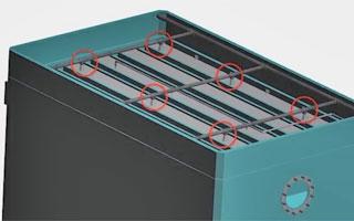 Instalación un sistema anti incendios en el interior de una torre de refrigeración