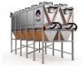 El sistema de enfriamiento adiabático Ecodry de Frigel reduce el uso de agua hasta un 95%