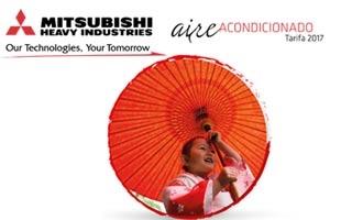 Nueva tarifa 2017 de aire acondicionado de Mitsubishi Heavy Industries