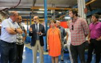 Arantxa Tapia, Consejera de Industria del Gobierno Vasco visita Domusa