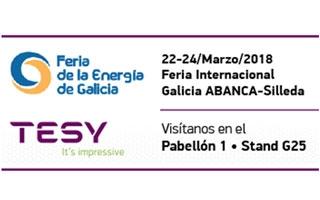 TESY , presente por primera vez como expositor en la Feria de la Enerxia de Galicia