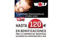 Wolf descubre su campaña para instaladores destinadas a las calderas