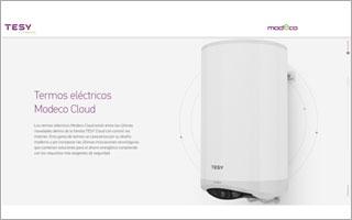 TESY presenta su termo eléctrico Modeco Cloud con control por Internet a través de una nueva web